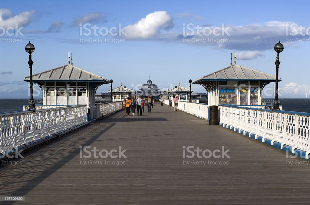 Pleasure Pier in Llandudno Wales stock photo