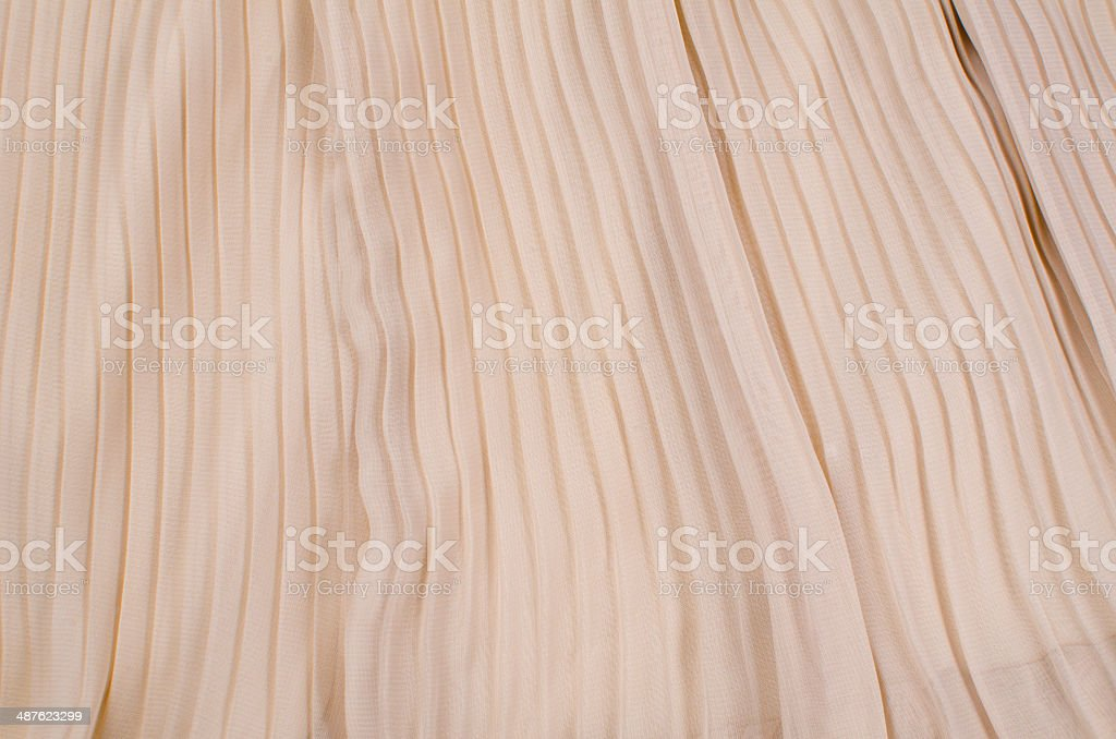 Pleated fabric stock photo