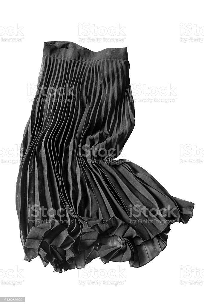 Pleated skirt isolated stock photo