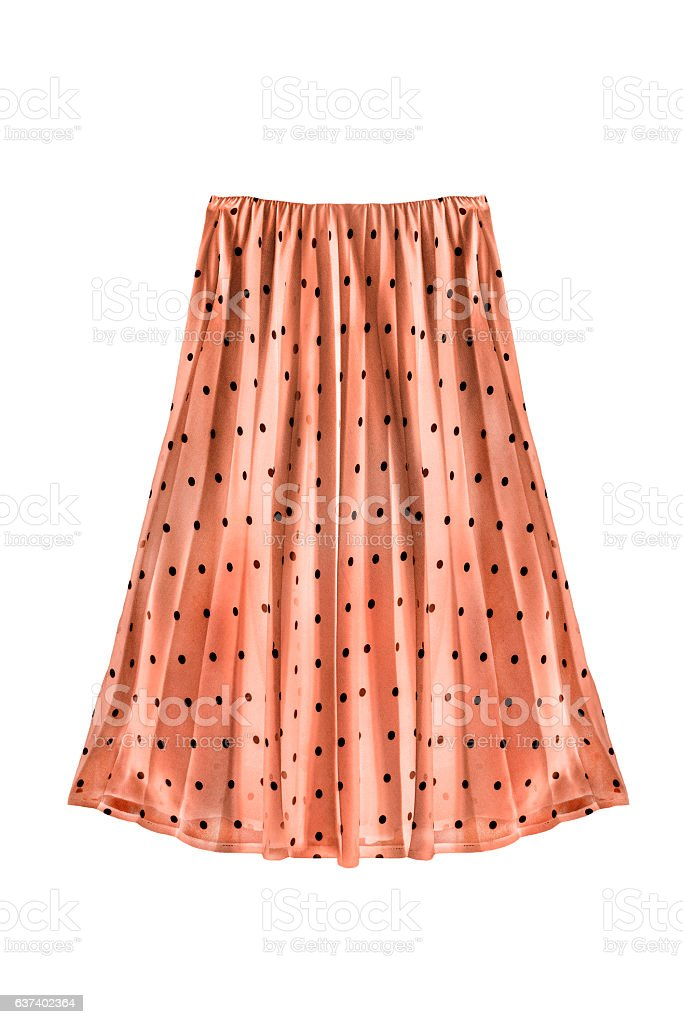 Pleated skirt isolated stock photo