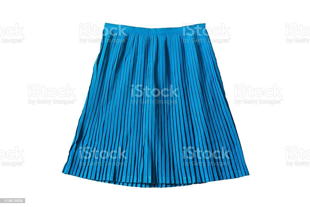 Pleated skirt stock photo