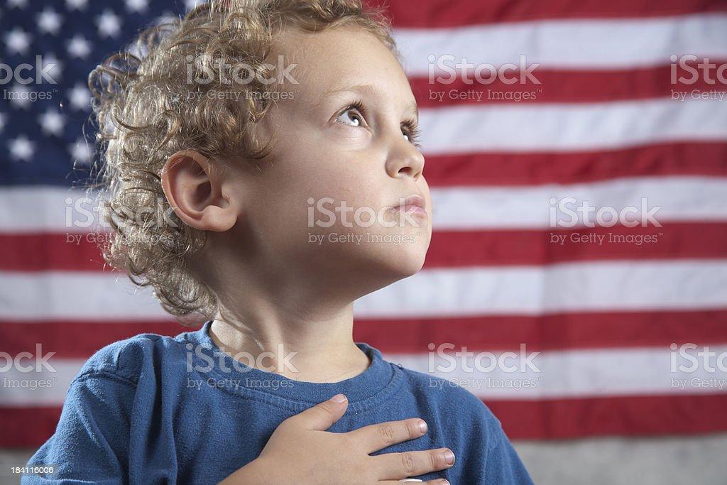 Pledge of Allegiance royalty-free stock photo