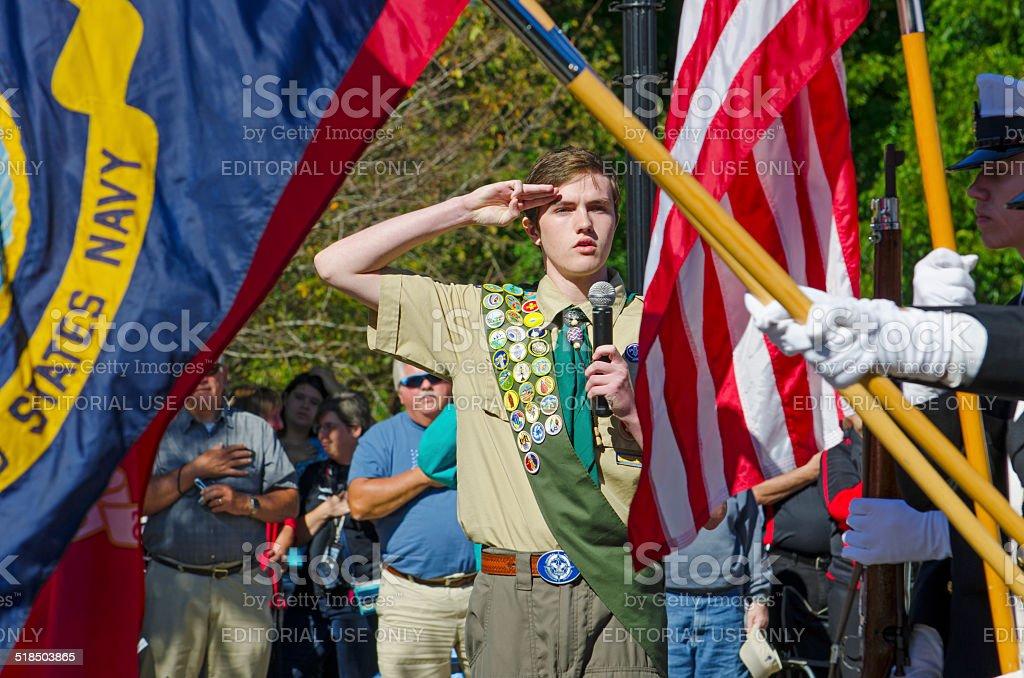 Pledge of Allegiance stock photo