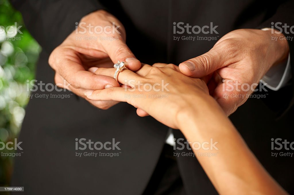 Pledging their love royalty-free stock photo