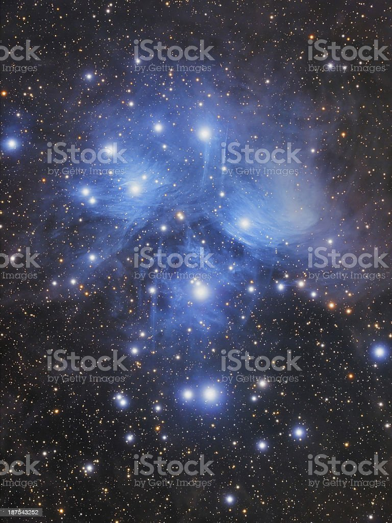 M45 - Pleiades HQ Mosaic Image stock photo