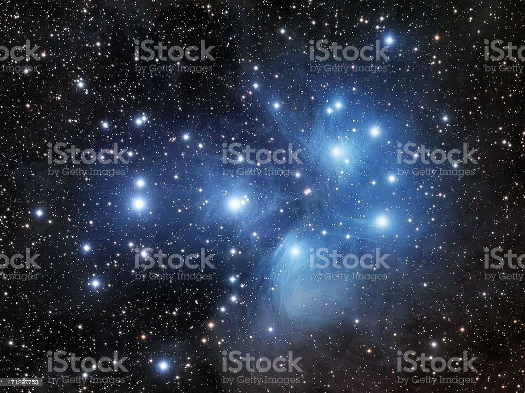 Pleiades, the Seven Sisters royalty-free stock photo