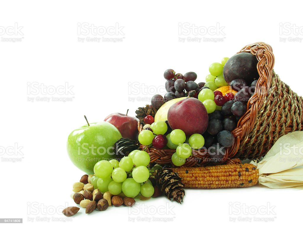 Plentiful Fruits and Nuts royalty-free stock photo