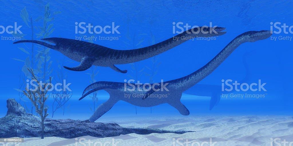 Plesiosaurus Jurassic Reptiles stock photo
