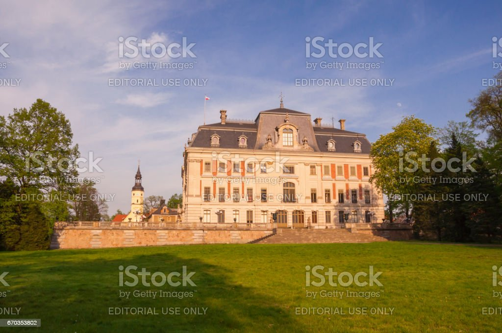 Pless Castle in Poland. stock photo