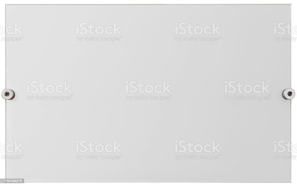 Plexiglass plate cutout stock photo