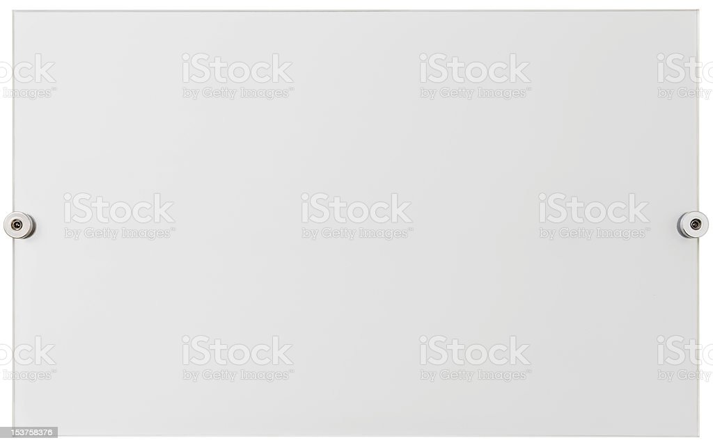 Plexiglass plate cutout stock photo