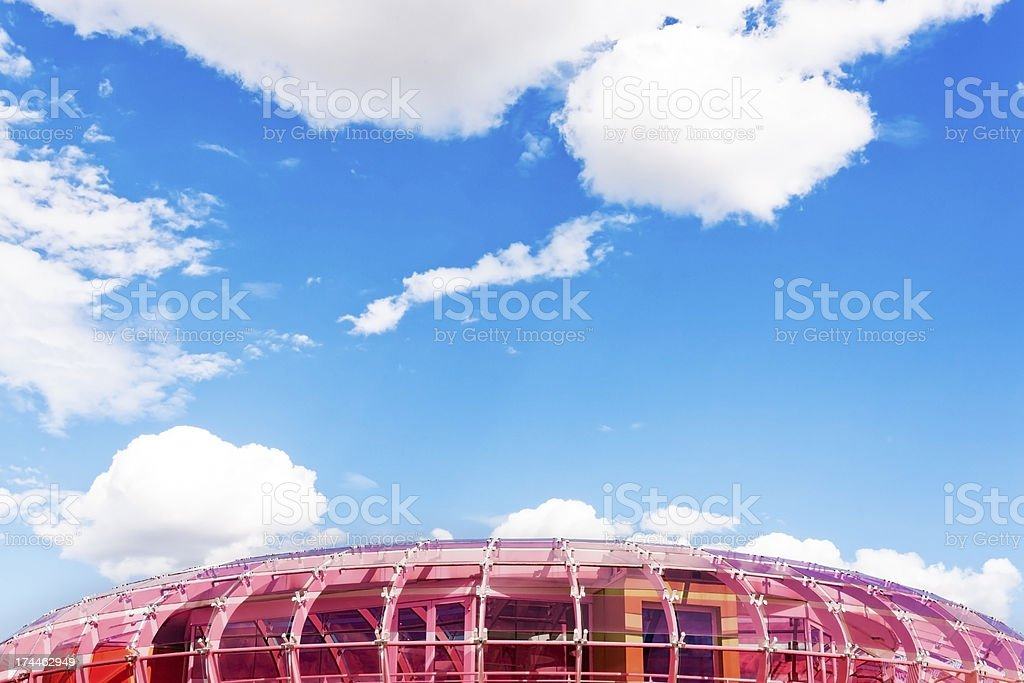 plexiglass structure against the sky royalty-free stock photo