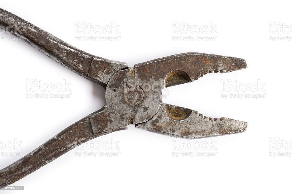 Pliers on white background royalty-free stock photo