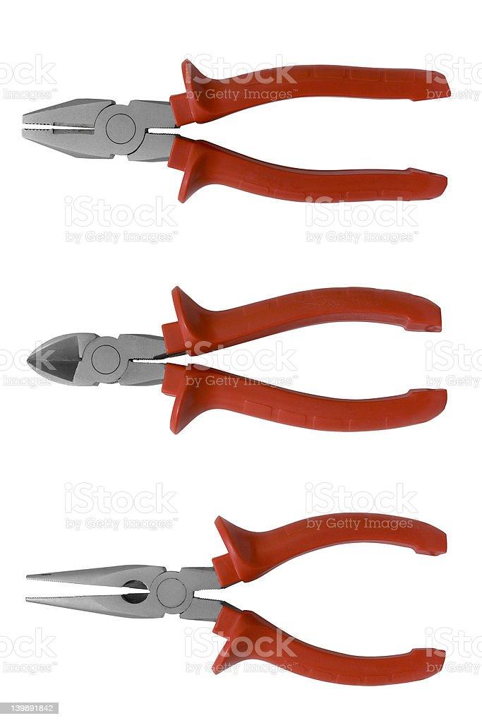 Pliers set stock photo