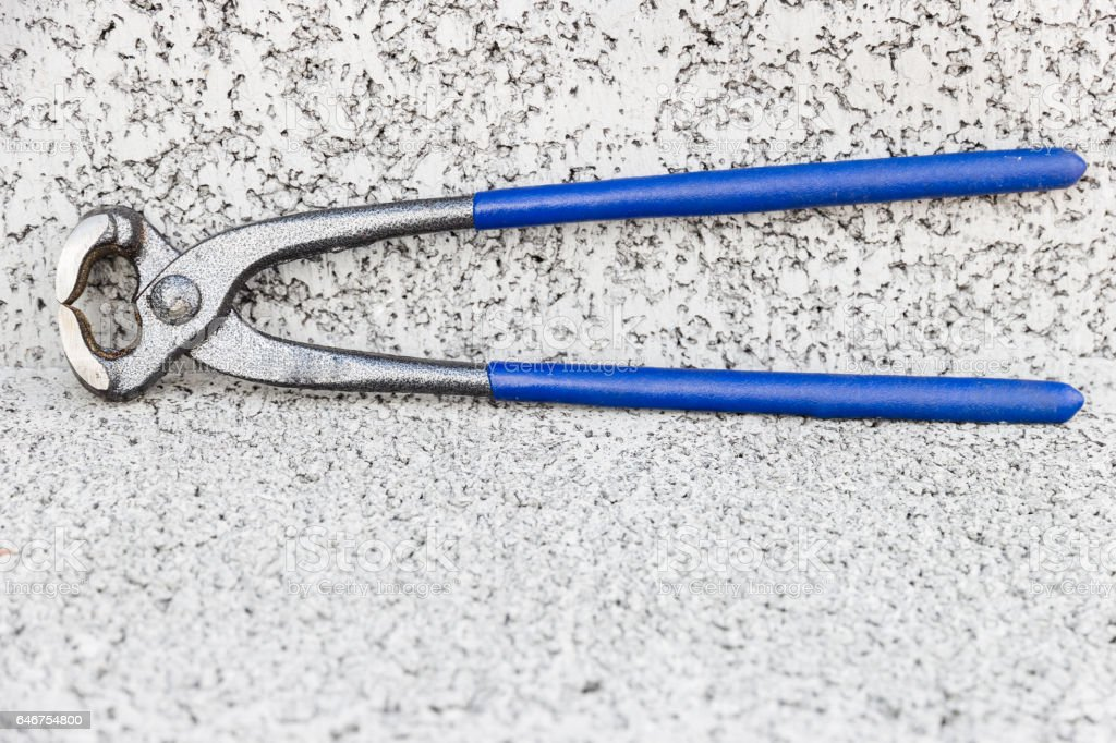 Pliers wire stock photo