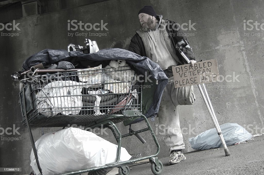 Plight of The Homeless stock photo