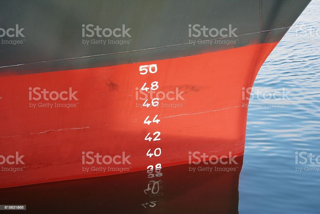 Plimsoll line stock photo