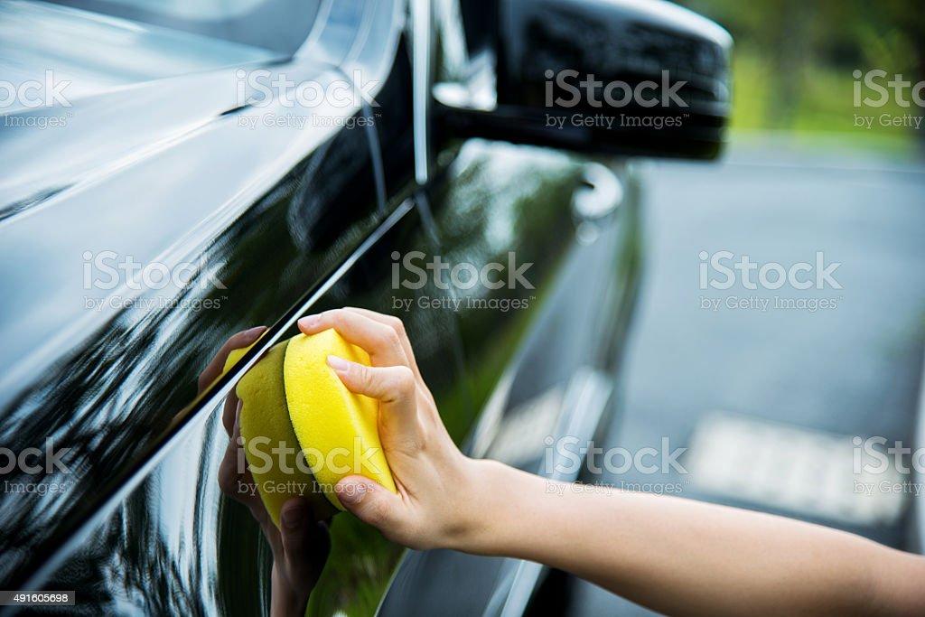 Plishing car stock photo