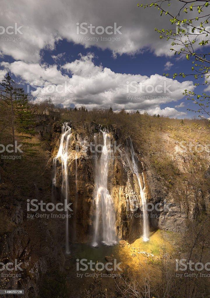 Grande queda de Plitvice foto royalty-free