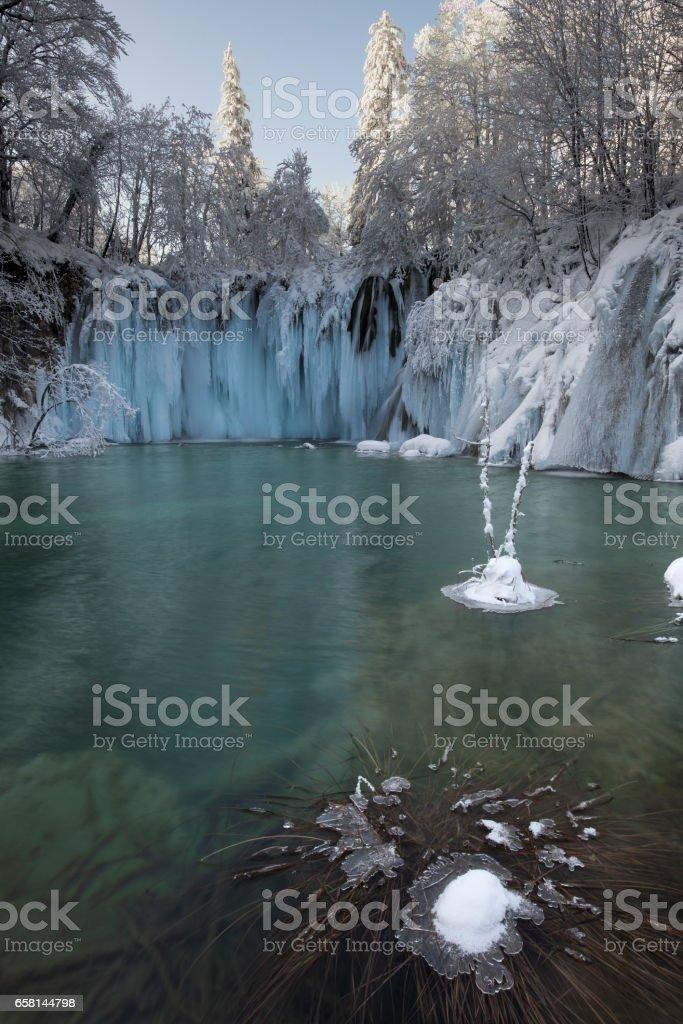 Plitvice in Winter Time stock photo