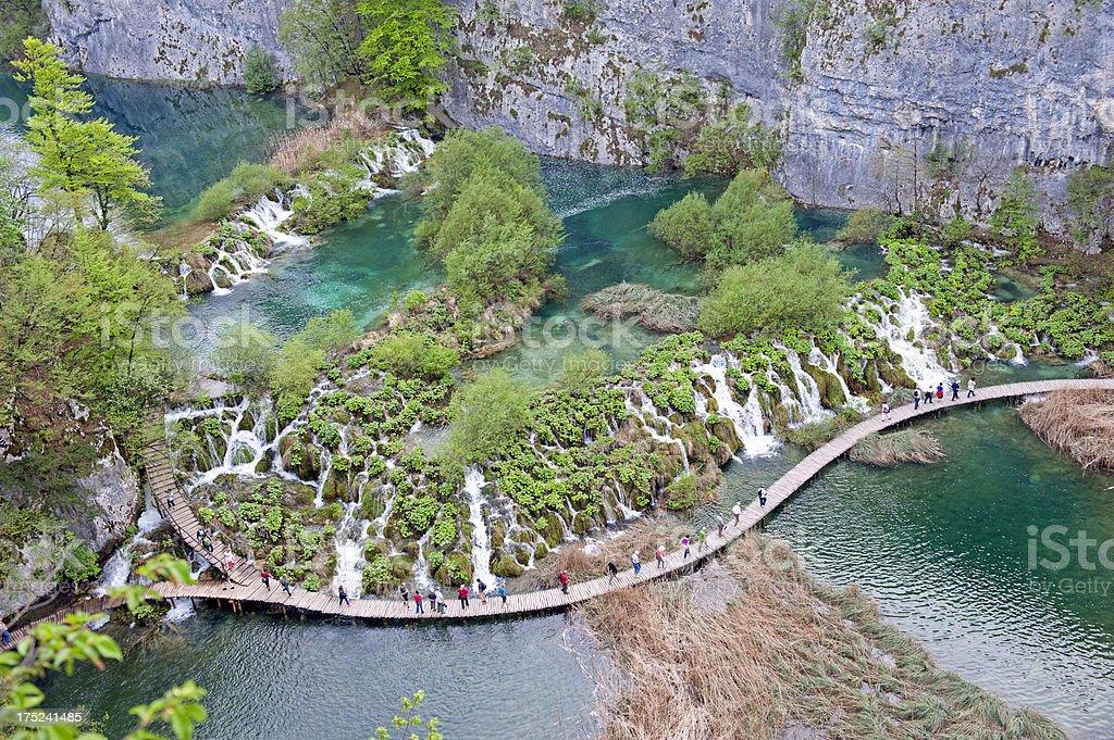 Plitvice lake royalty-free stock photo