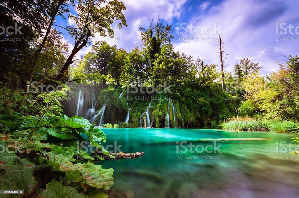Plitvice Lakes, Croatia. stock photo