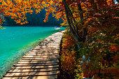 Plitvice lakes footpath