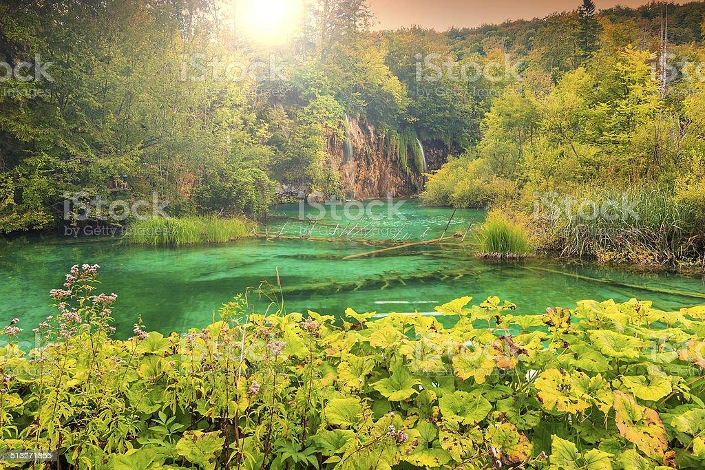 Plitvice Lakes National Park in Croatia,Europe stock photo