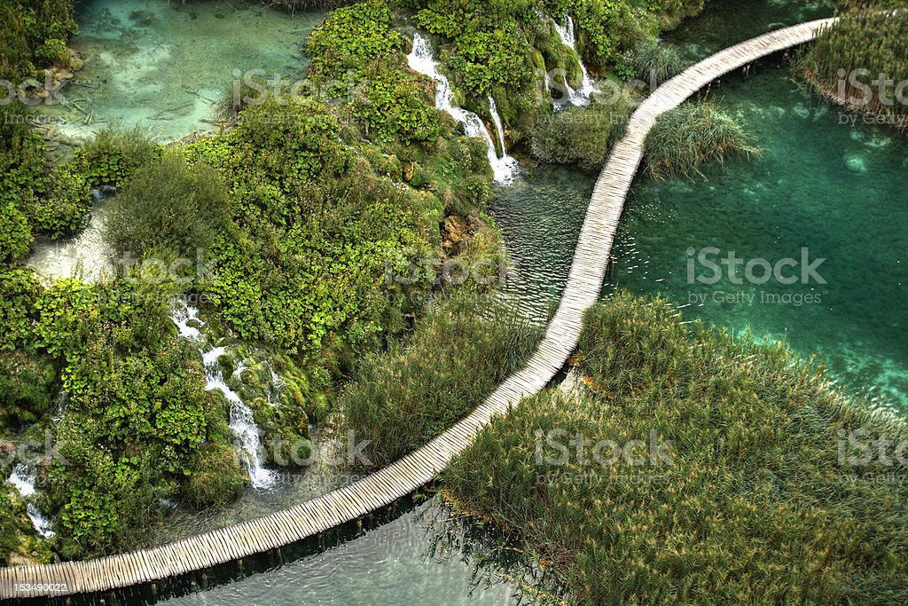 Plitvice Lakes National Park - S road stock photo