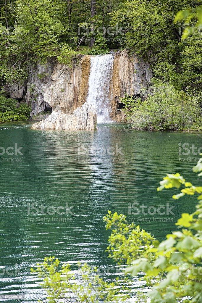 Plitvice Lakes, National Park, Waterfall royalty-free stock photo