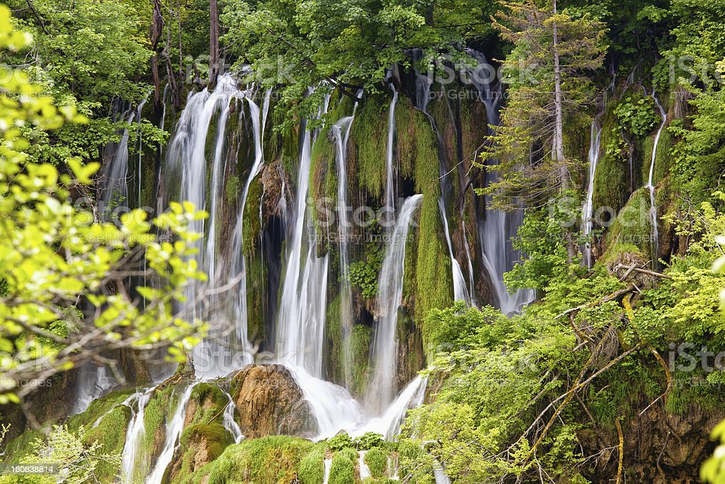 Plitvice Lakes, National Park, Waterfall royalty-free stock photo