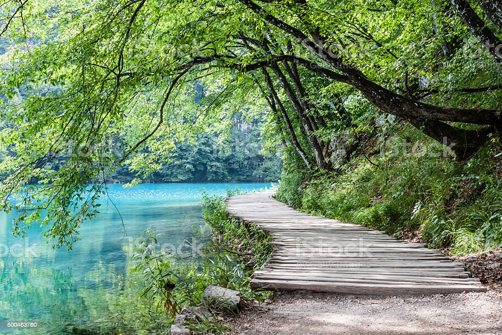 Plitvice lakes stock photo