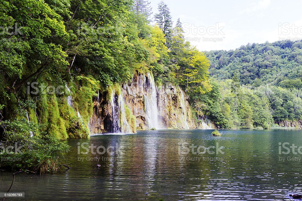 Plitvice Lakes Waterfall royalty-free stock photo