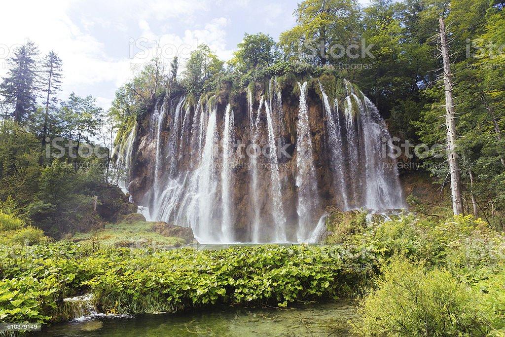 Plitvice Lakes Waterfall royalty-free stock photo