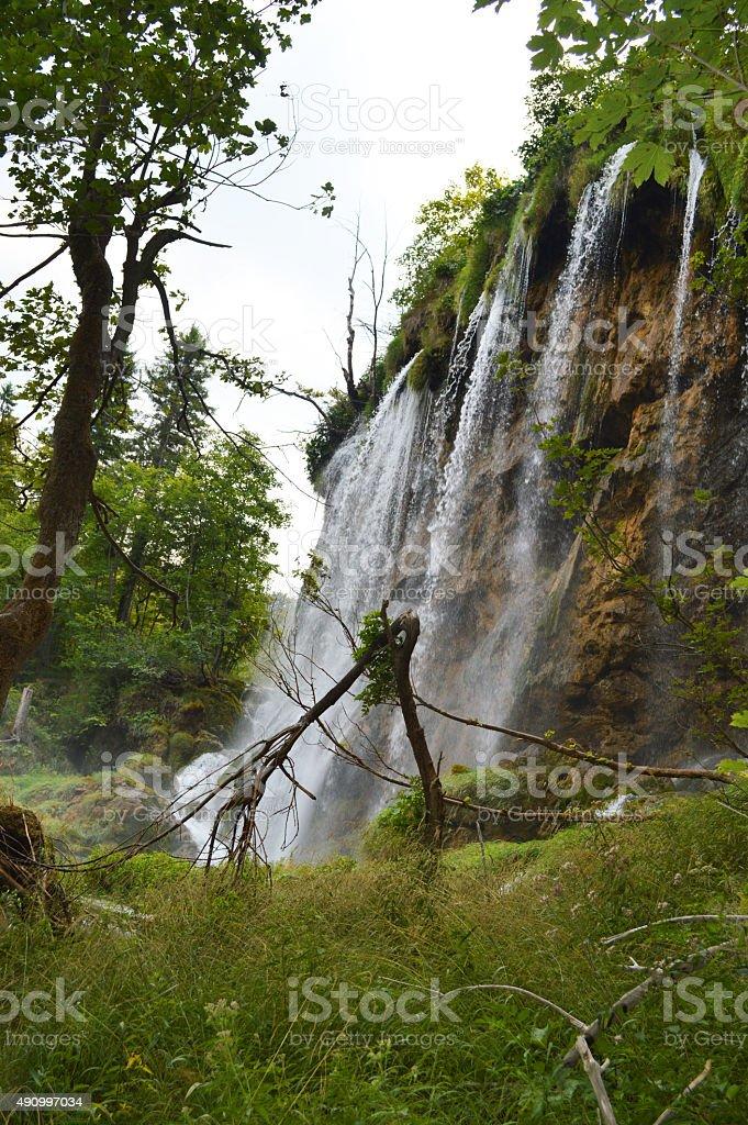 Cascada de fondo de Plitvice foto de stock libre de derechos
