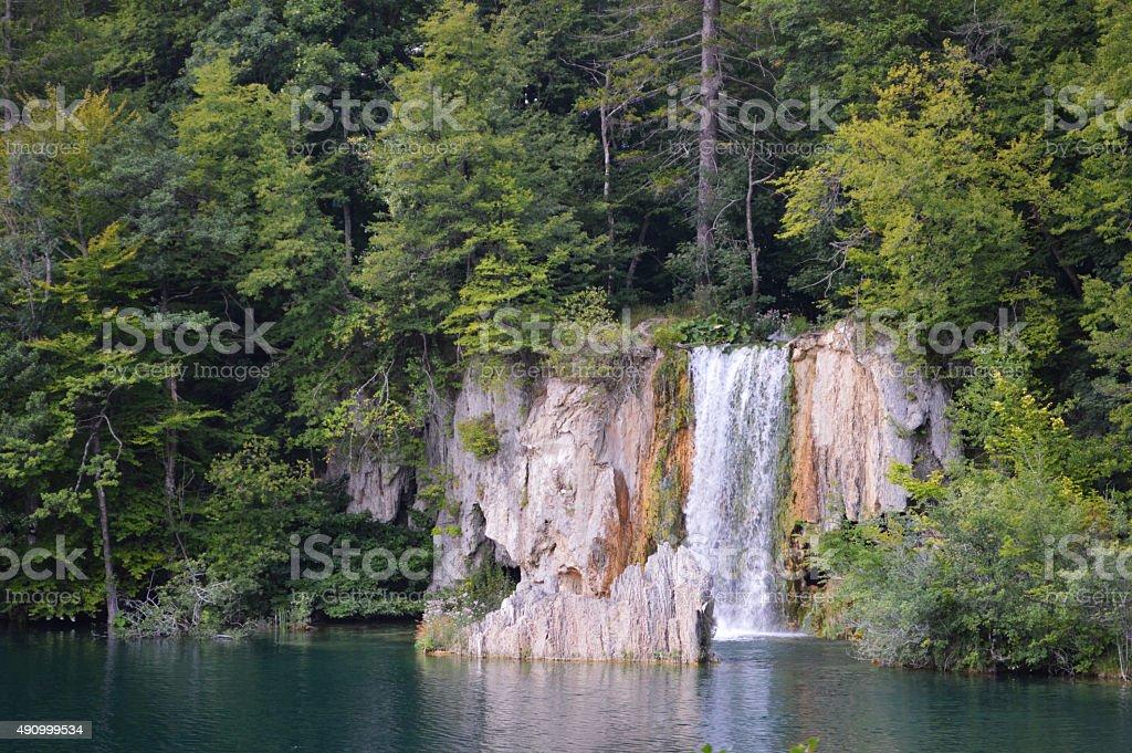 De plitvice cascada en Croacia foto de stock libre de derechos