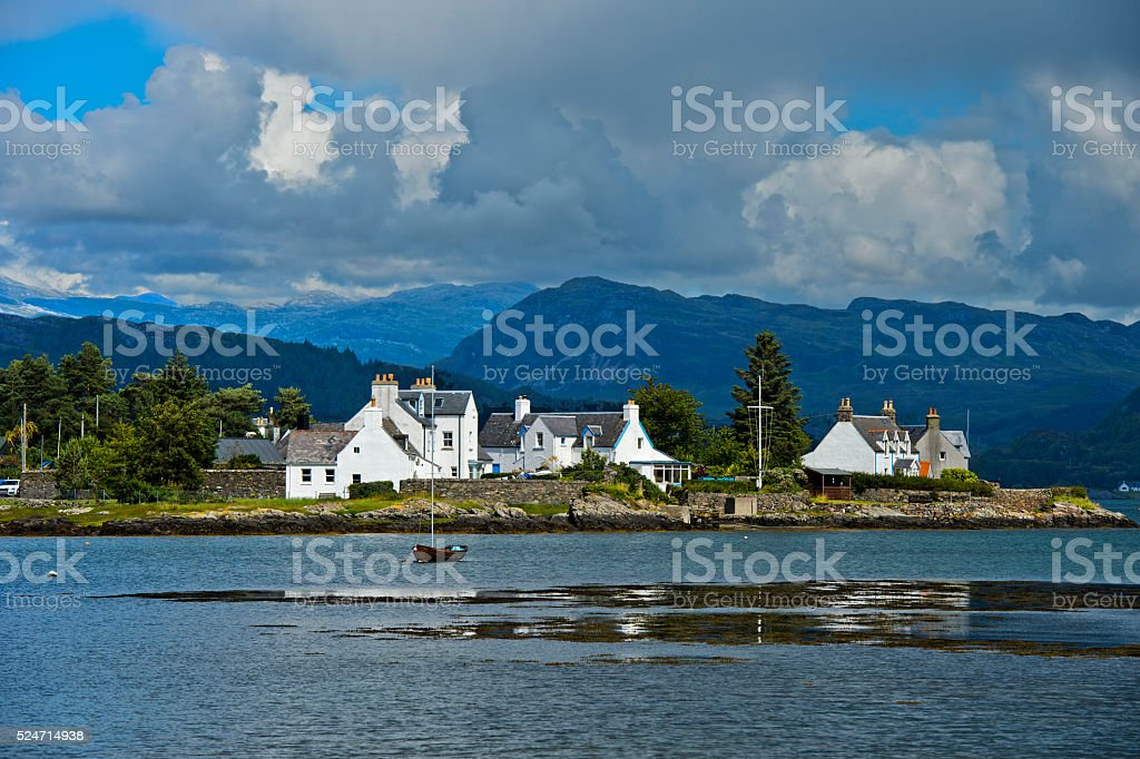 Plockton at Loch Carron stock photo