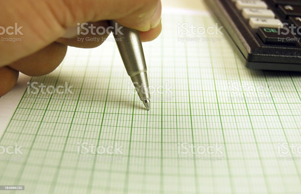 Plot your graph!! royalty-free stock photo