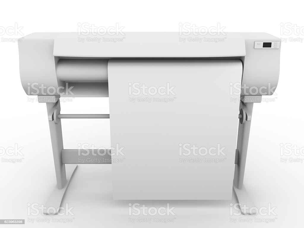 Plotter in frontal view stock photo