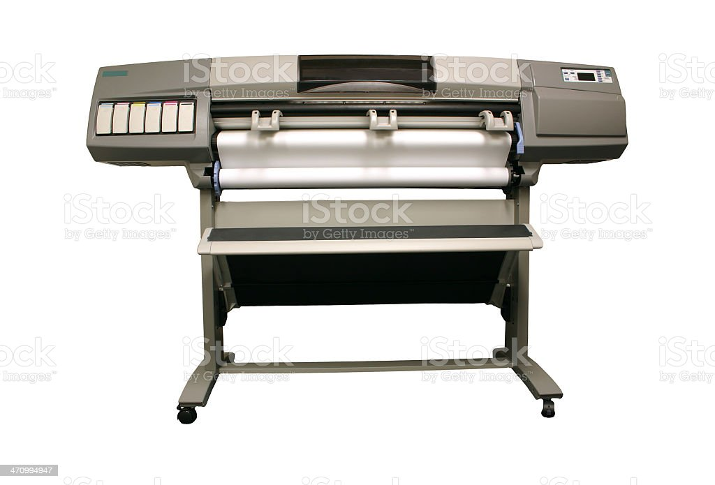 Plotter - Large Format Printer royalty-free stock photo