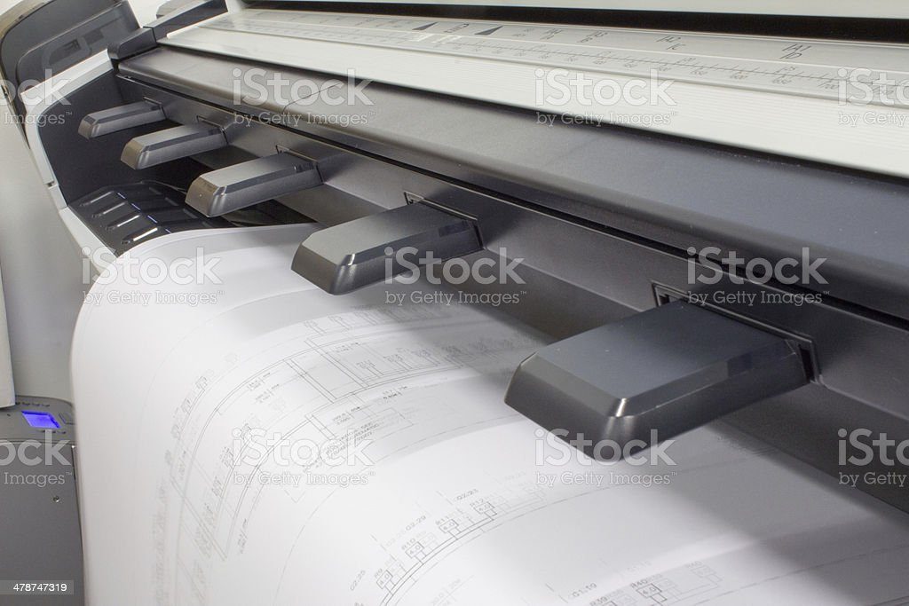 CAD Plotter stock photo