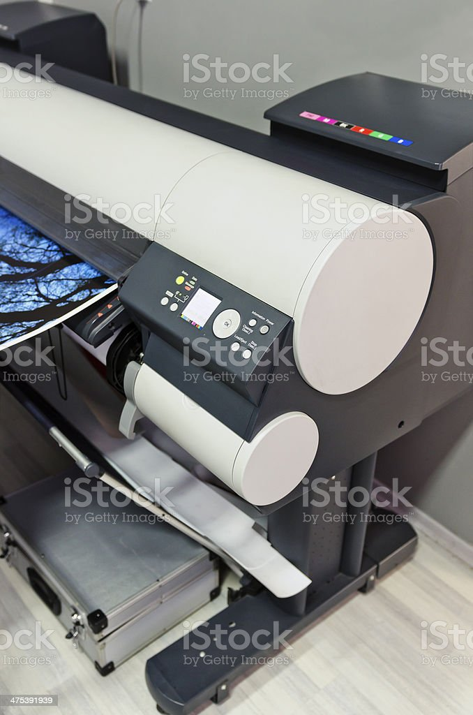 Plotter printing stock photo