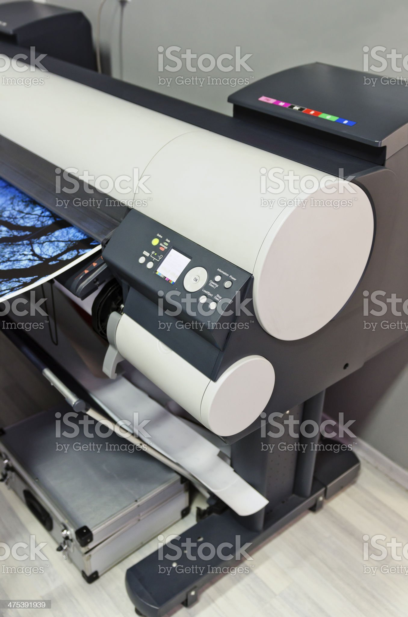 Plotter printing royalty-free stock photo