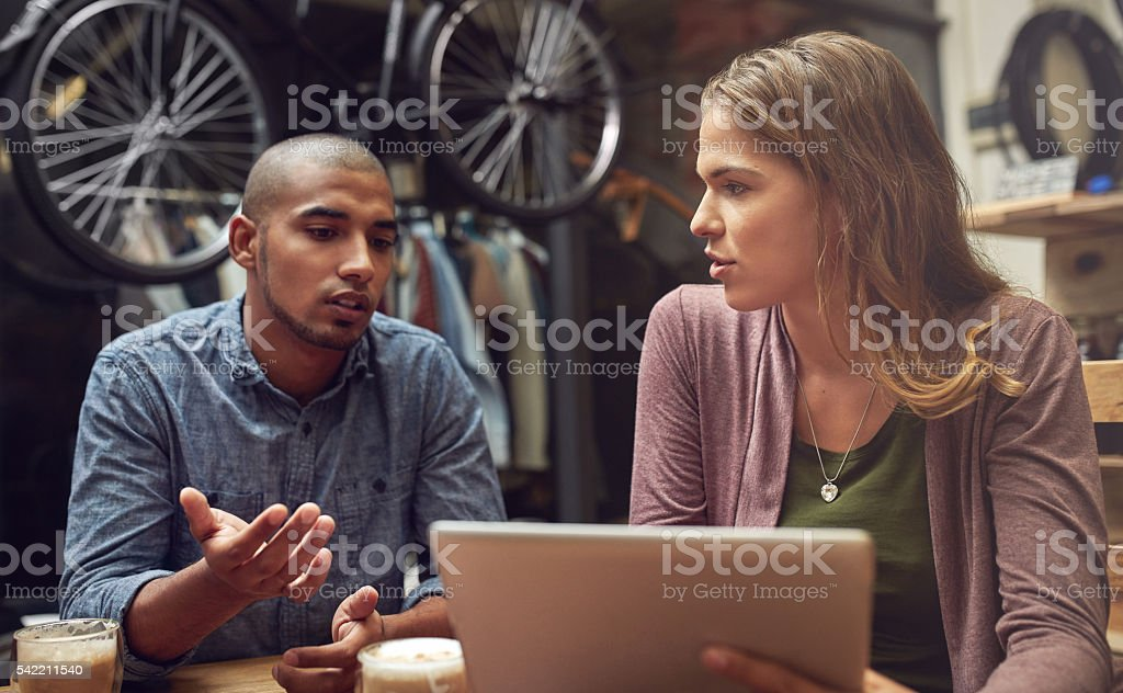 Plotting the strategy for small business success stock photo