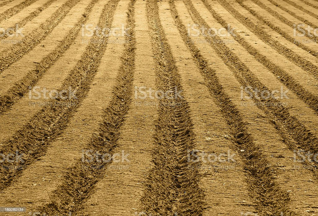 ploughed soil royalty-free stock photo