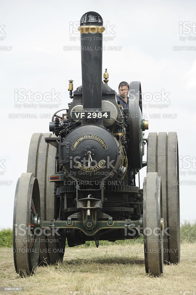 Ploughing Engine stock photo