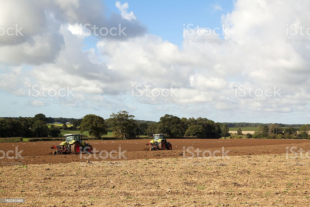 Ploughing time royalty-free stock photo
