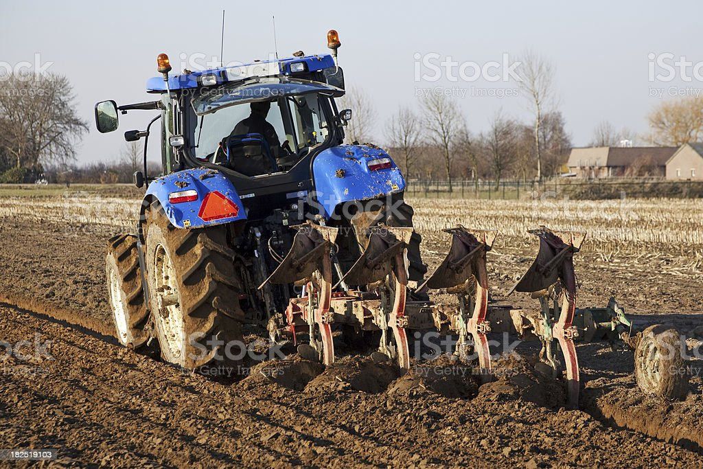 Ploughing # 5 XL royalty-free stock photo