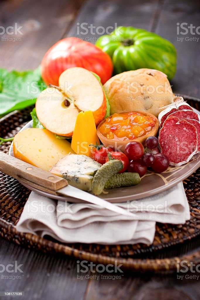Ploughman's Lunch royalty-free stock photo
