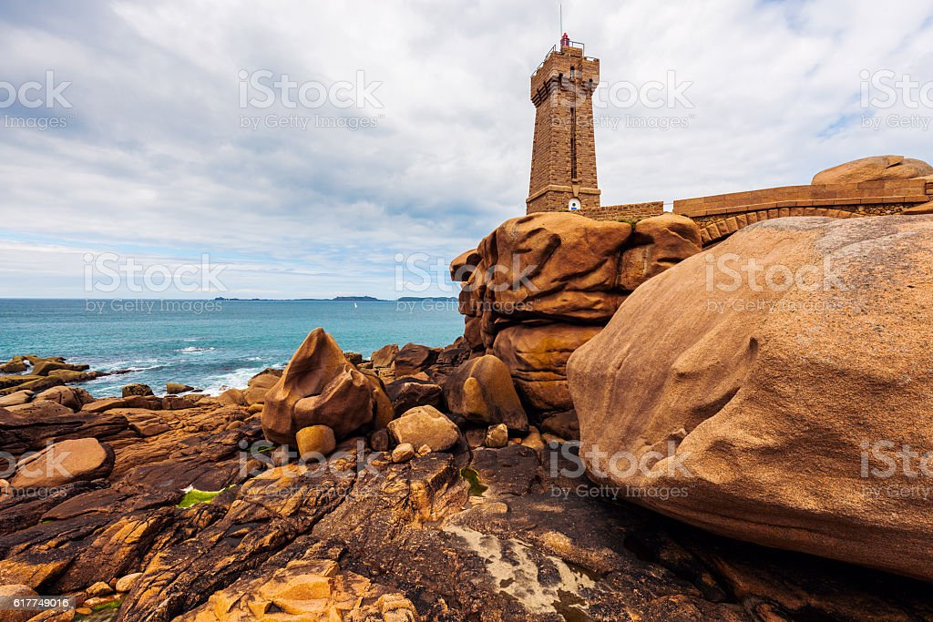 Ploumanach Lighthouse stock photo